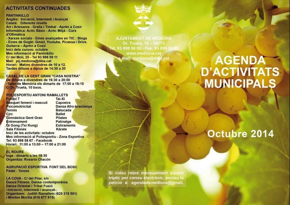 activitats octubre 1