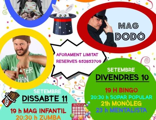 ANUL·LADA PER PREVISIÓ DE TEMPORAL: Festa Major de Sant Elies el 10 i 11 de setembre